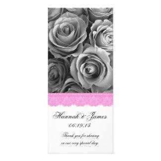 ROSAS DE PLATA y programa ROSADO del boda del Plantillas De Lonas