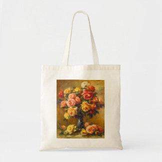 Rosas de Renoir en una bolsa de asas del florero