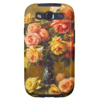 Rosas de Renoir en una caja de la galaxia S3 de Sa Samsung Galaxy S3 Protectores