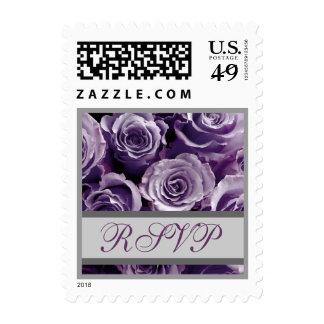 Rosas de RSVP de la bodas de plata púrpura y de la