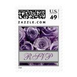 Rosas de RSVP de la bodas de plata púrpura y de la Franqueo