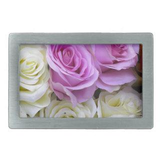 rosas de seda hebillas de cinturón rectangulares