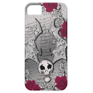 ROSAS DE SKULL-BAT iPhone 5 CARCASA