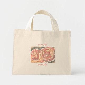 Rosas de té del jardín bolsas lienzo