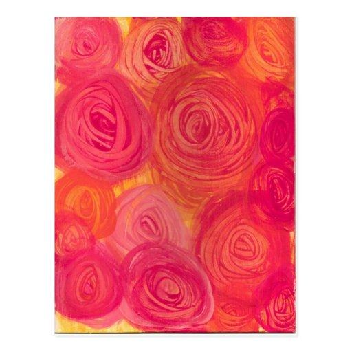 Rosas de té ingleses tarjeta postal