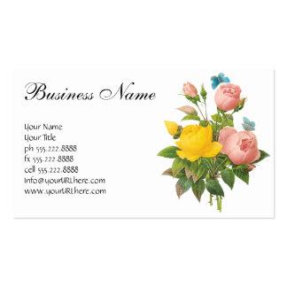 Rosas de té persas del rosa amarillo del vintage p