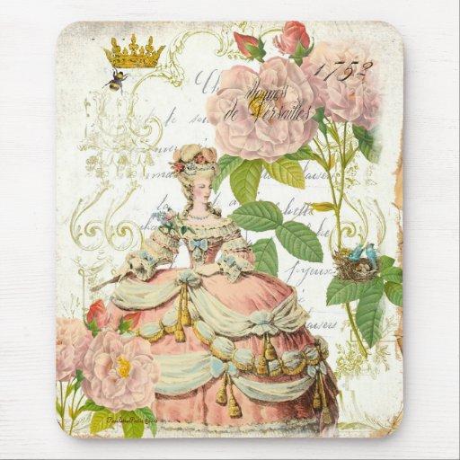 Rosas de Versalles Reine Marie Antonieta Alfombrilla De Ratones