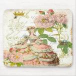 Rosas de Versalles Reine Marie Antonieta Tapetes De Ratón