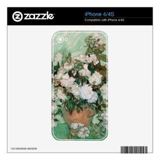 Rosas de Vincent van Gogh el  , 1890 Calcomanías Para El iPhone 4S
