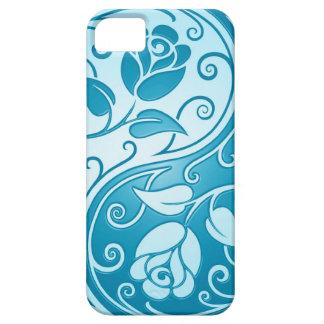 Rosas de Yin Yang, azules iPhone 5 Carcasa