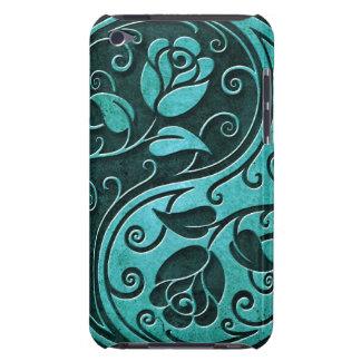 Rosas de Yin Yang de la piedra azul iPod Case-Mate Protector