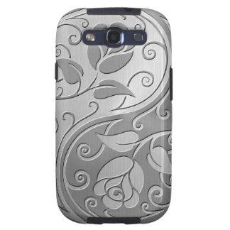 Rosas de Yin Yang del acero inoxidable Samsung Galaxy S3 Protector