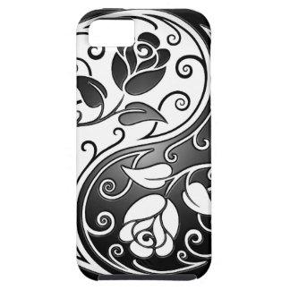 Rosas de Yin Yang, firmemente iPhone 5 Case-Mate Funda