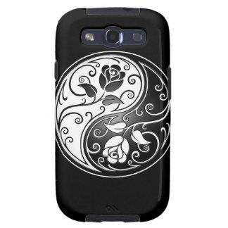 Rosas de Yin Yang, negros Samsung Galaxy S3 Protector
