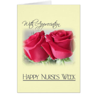 Rosas del Aprecio-Dos de la semana de las Tarjeta De Felicitación