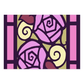 ROSAS del ART DÉCO en rosa y oro Plantillas De Tarjetas De Visita