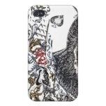 """""""Rosas del as """" iPhone 4/4S Carcasas"""