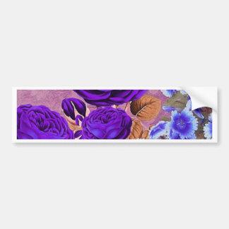 Rosas del azul de la lavanda pegatina para auto