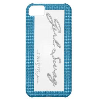 Rosas del azul del Swag del chica Funda Para iPhone 5C