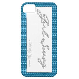 Rosas del azul del Swag del chica iPhone 5 Carcasas