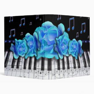 """Rosas del azul del teclado de piano carpeta 1"""""""