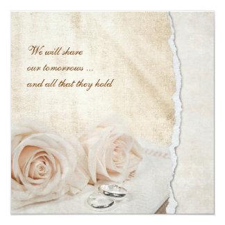 """Rosas del boda en la biblia invitación 5.25"""" x 5.25"""""""