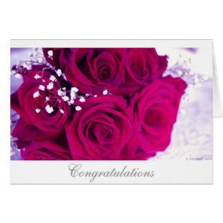 Rosas del boda felicitación