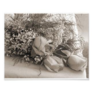 Rosas del boda impresiones fotográficas