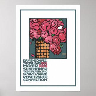 Rosas del boutique del vintage impresiones