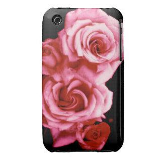 Rosas del caramelo de algodón Case-Mate iPhone 3 cobertura