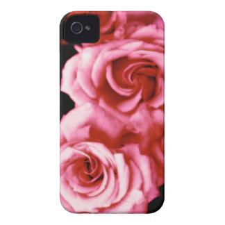 Rosas del caramelo de algodón Case-Mate iPhone 4 fundas