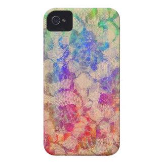Rosas del cordón de Fluoro iPhone 4 Funda