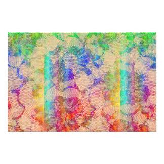 Rosas del cordón de Fluoro Arte Con Fotos