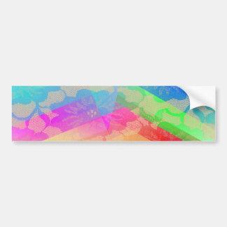 Rosas del cordón del arco iris pegatina para auto