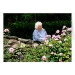 Rosas del corte de la abuela felicitación