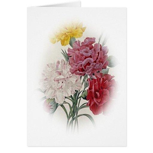 Rosas del cumpleaños - la suavidad afiló óvalo tarjeta de felicitación
