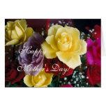 Rosas del día de madre tarjeta de felicitación