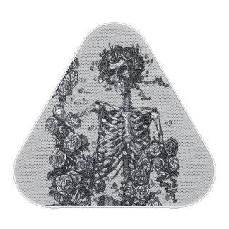 Rosas del esqueleto de la muerte del vintage altavoz bluetooth