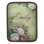 Rosas del estilo del vintage funda para iPads