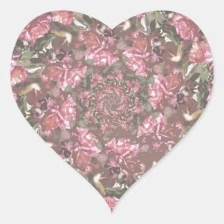 Rosas del inconformista pegatina en forma de corazón