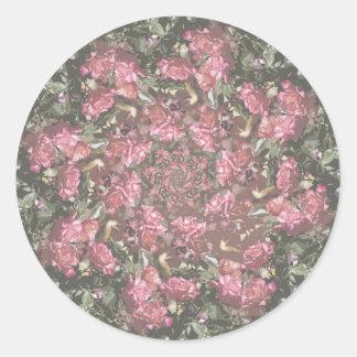 Rosas del inconformista pegatina redonda