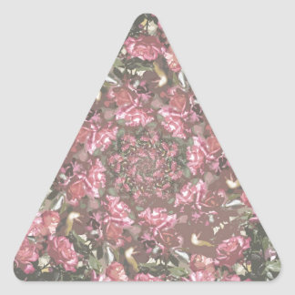 Rosas del inconformista pegatina triangular