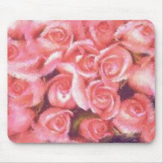 Rosas del KRW en pastel Tapetes De Ratones