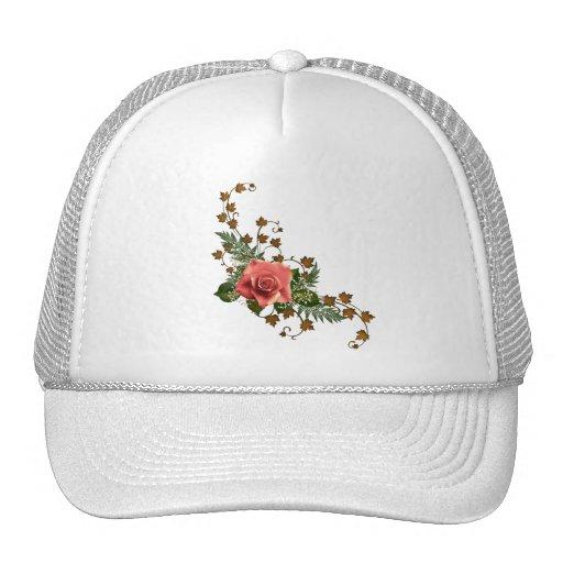 Rosas del melocotón gorras de camionero
