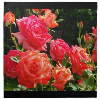 Rosas del melocotón servilleta de papel