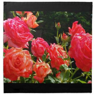 Rosas del melocotón servilleta
