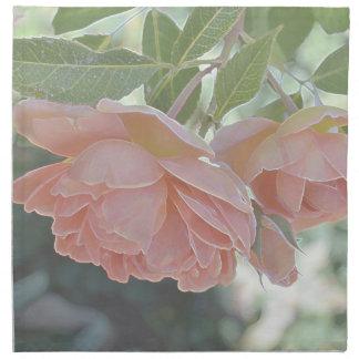 Rosas del melocotón servilletas