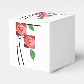 Rosas del nouveau del arte cajas para detalles de boda
