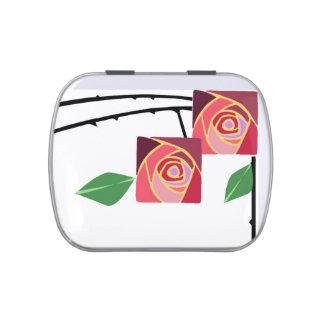 rosas del nouveau del arte latas de dulces