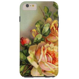 Rosas del oro del vintage funda de iPhone 6 plus tough